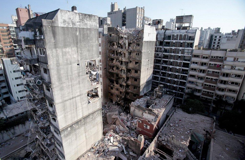 Vista aérea del edificio de Salta 2141