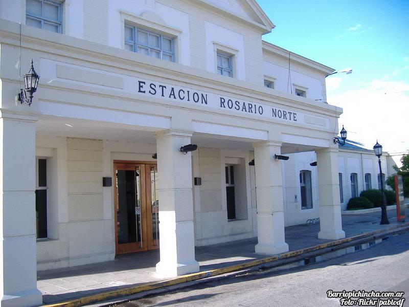 Frente de la Estación Rosario Norte