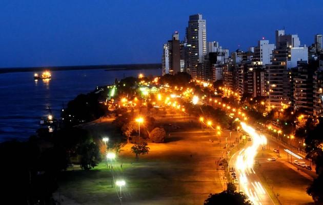 Vista panorámica aérea de Rosario