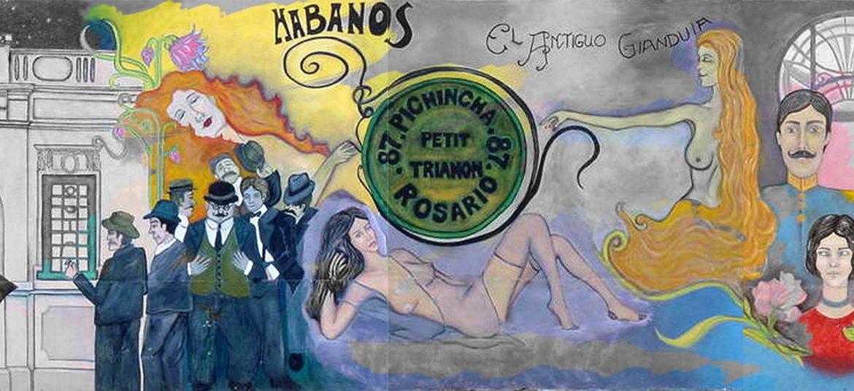 Bellísimo Mural retratando la historia del barrio