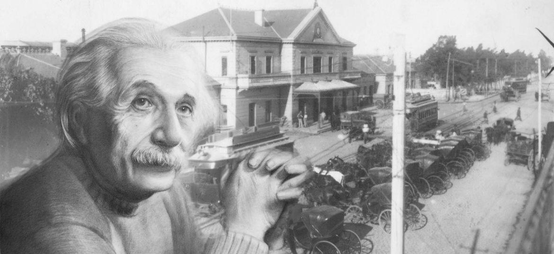 Einstein en Rosario Norte