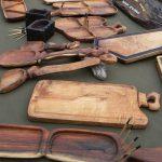 Tablas de madera de la Feria del Bulevar